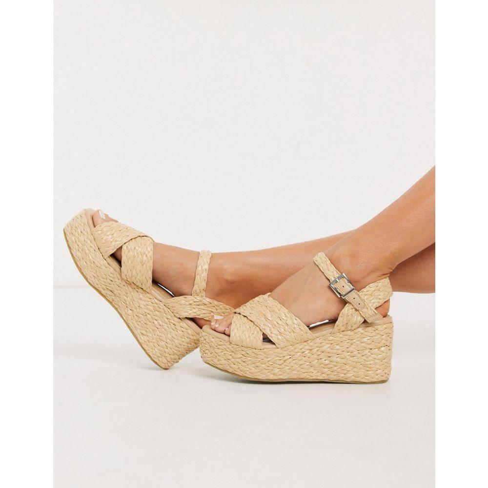 レイド Raid レディース サンダル・ミュール シューズ・靴【RAID Adalyn flatform sandals in natural】Natural