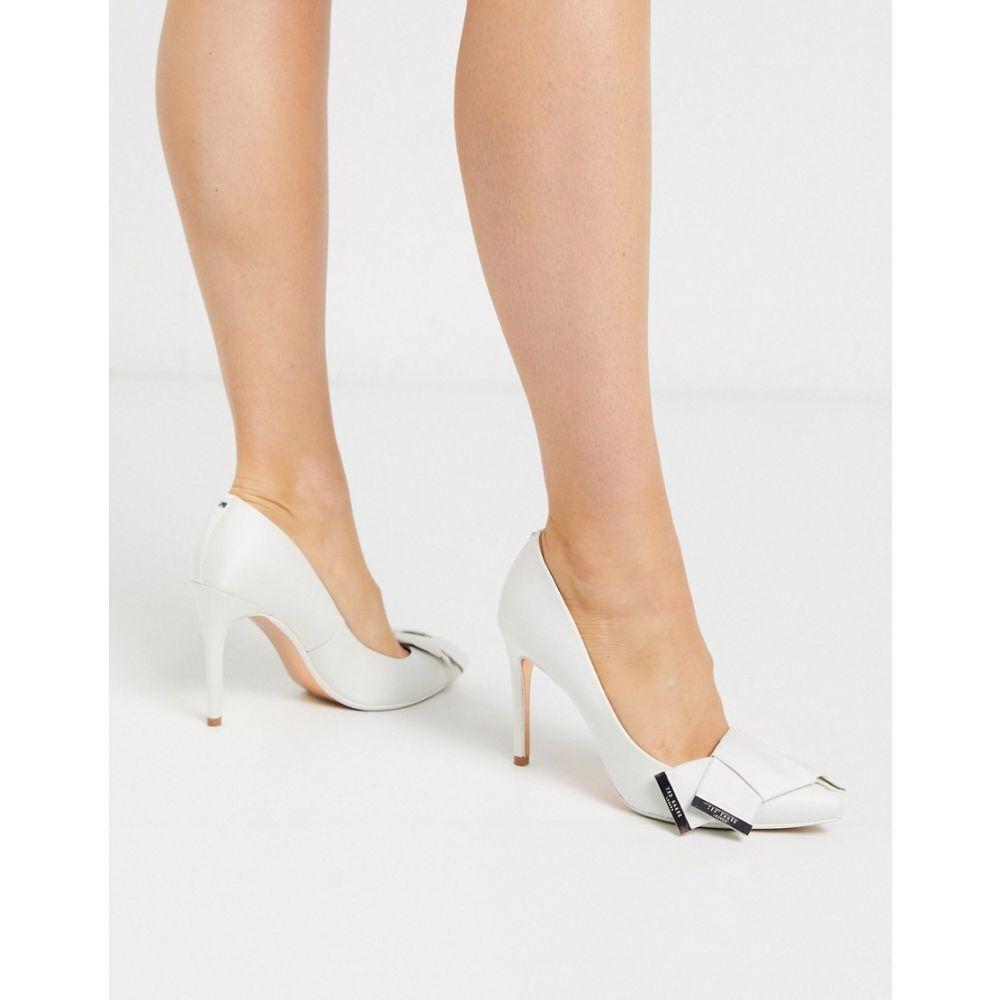 テッドベーカー Ted Baker レディース パンプス シューズ・靴【satin bow detail court shoes in ivory】Ivory