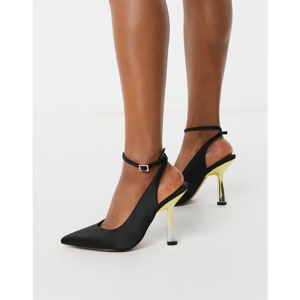 エイソス ASOS DESIGN レディース ヒール シューズ・靴【Protector high heeled shoes in black】Black