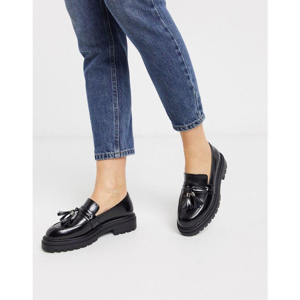 レイド Raid レディース ローファー・オックスフォード チャンキーヒール シューズ・靴【RAID Astal chunky loafers in black】Black box pu