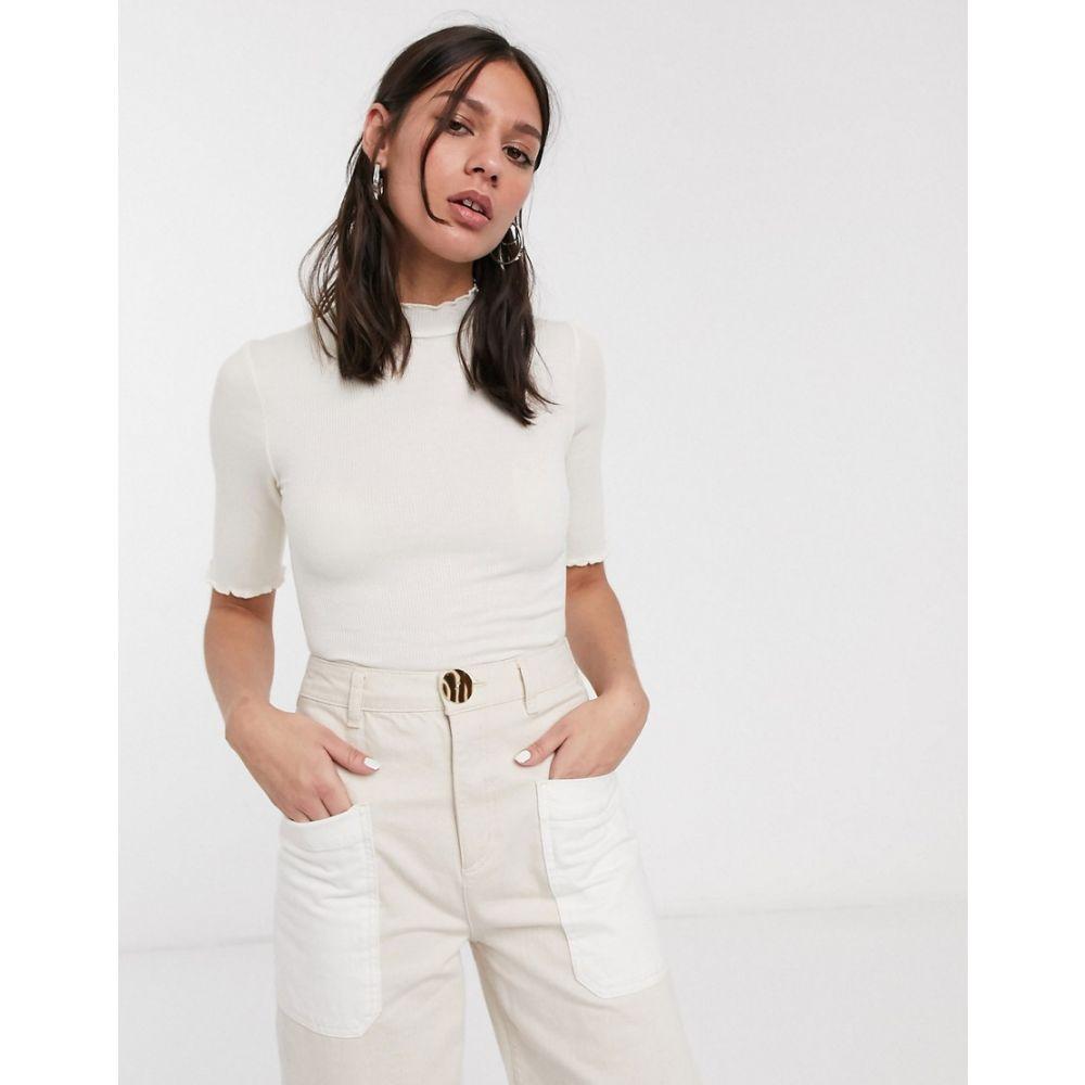 レブトルーム Levete Room レディース Tシャツ トップス【crinkle hem t-shirt in off white】Off white