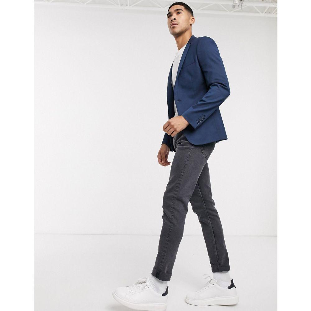 エイソス ASOS DESIGN メンズ スーツ・ジャケット アウター Asos Design Super Skinny Blazer In Teal Wool Mix Bluenwk80OP