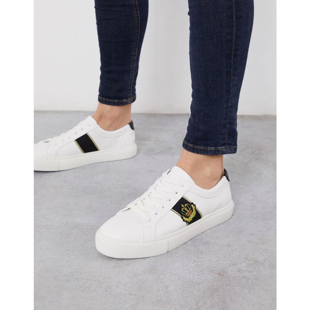 エイソス ASOS DESIGN メンズ スニーカー シューズ・靴【Asos Design Trainers In White With Gold Detail】White