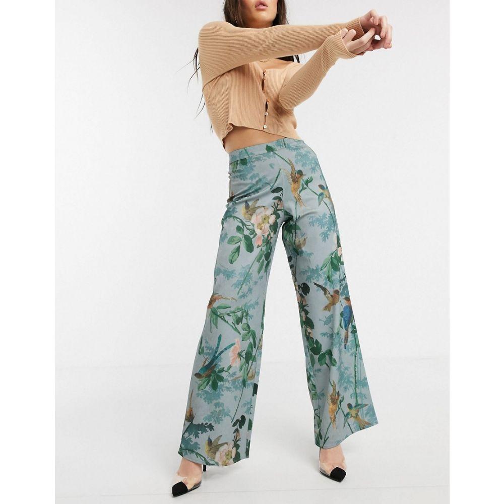 ホープ&アイビー Hope & Ivy レディース ボトムス・パンツ ワイドパンツ【Wide Leg Trouser In Blue Floral】Multi