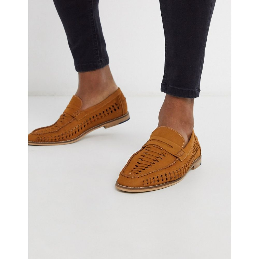 デューン Dune メンズ ローファー シューズ・靴【Woven Tan Slip On Loafer】Tan nuuck
