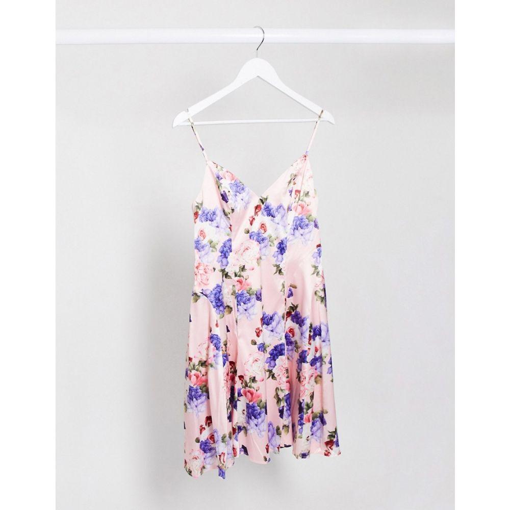 チチロンドン Chi Chi London レディース ワンピース スケータードレス ワンピース・ドレス【Mini Skater Dress In Mixed Floral Print】Floral