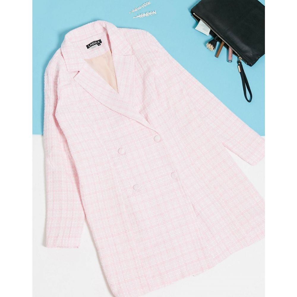 ラスラ Lasula レディース ワンピース ブレザードレス ワンピース・ドレス【Boucle Blazer Dress In Pink】Pink