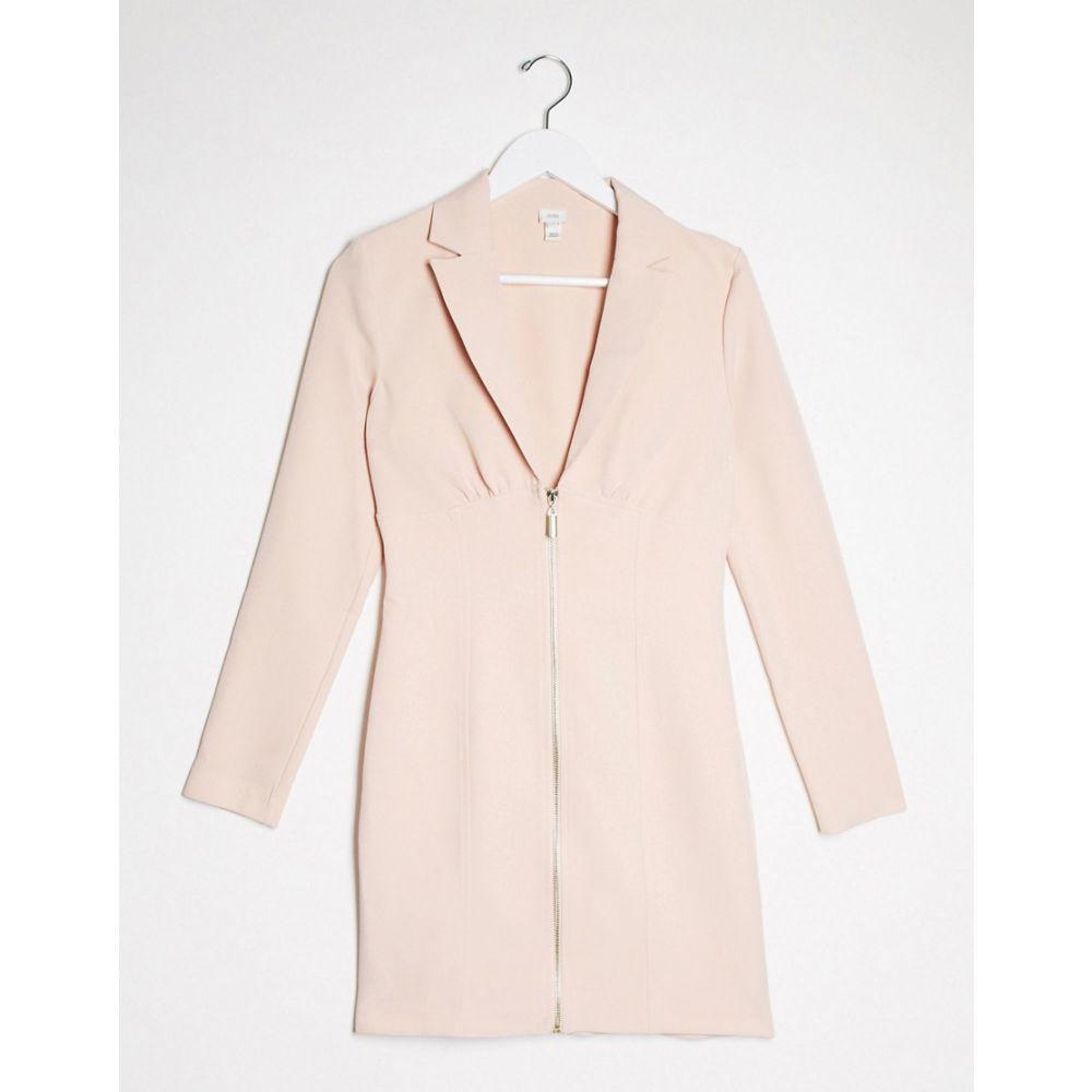 リバーアイランド River Island レディース ワンピース ブレザードレス ワンピース・ドレス【Zip Front Blazer Dress In Pink】Pink