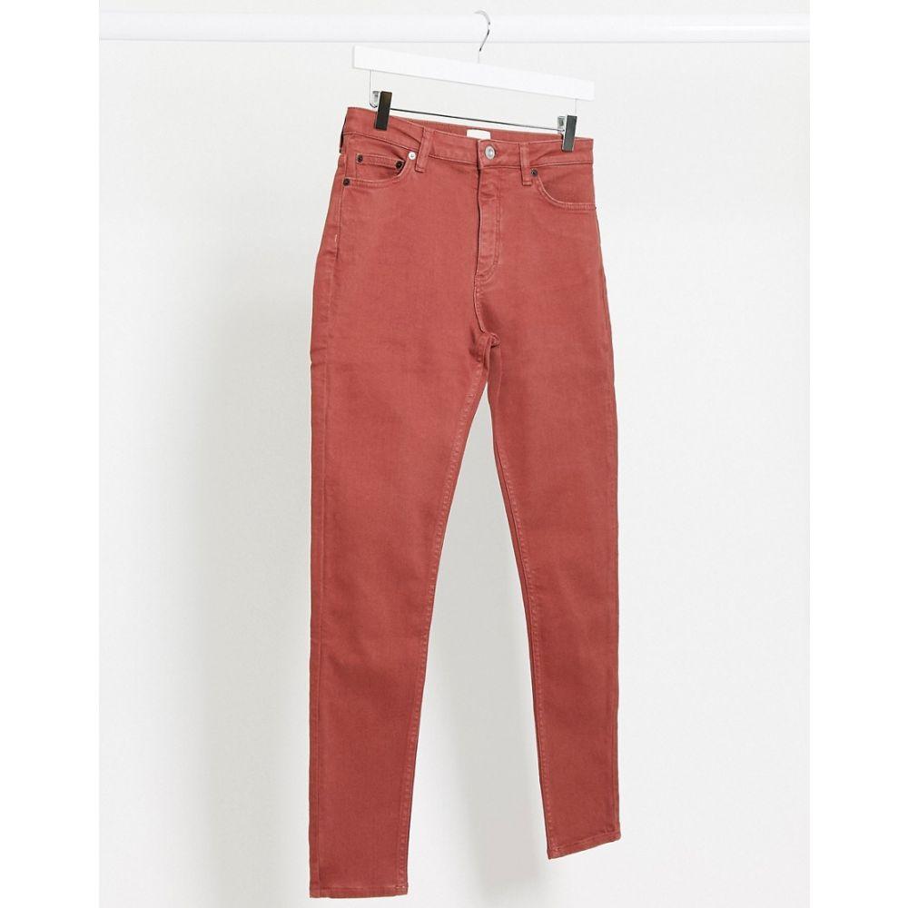 フレンチコネクション French Connection レディース ジーンズ・デニム ボトムス・パンツ【Skinny High Waist Jeans In Red】Rosewood