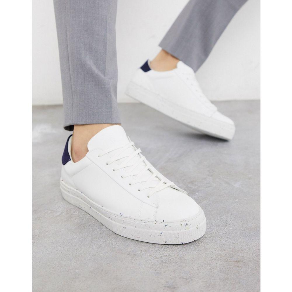 ジャック アンド ジョーンズ Jack & Jones メンズ スニーカー シューズ・靴【Premium Eco-Friendly Trainers With Flecked Sole In White】White