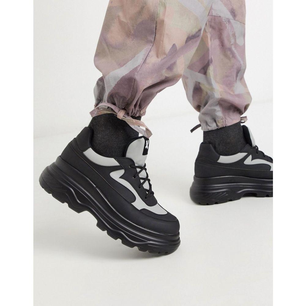 コイフットウェア Koi Footwear メンズ スニーカー チャンキーヒール シューズ・靴【Vegan Gyoubu Chunky Sole Trainers In Black And Glow In The Dark】Black