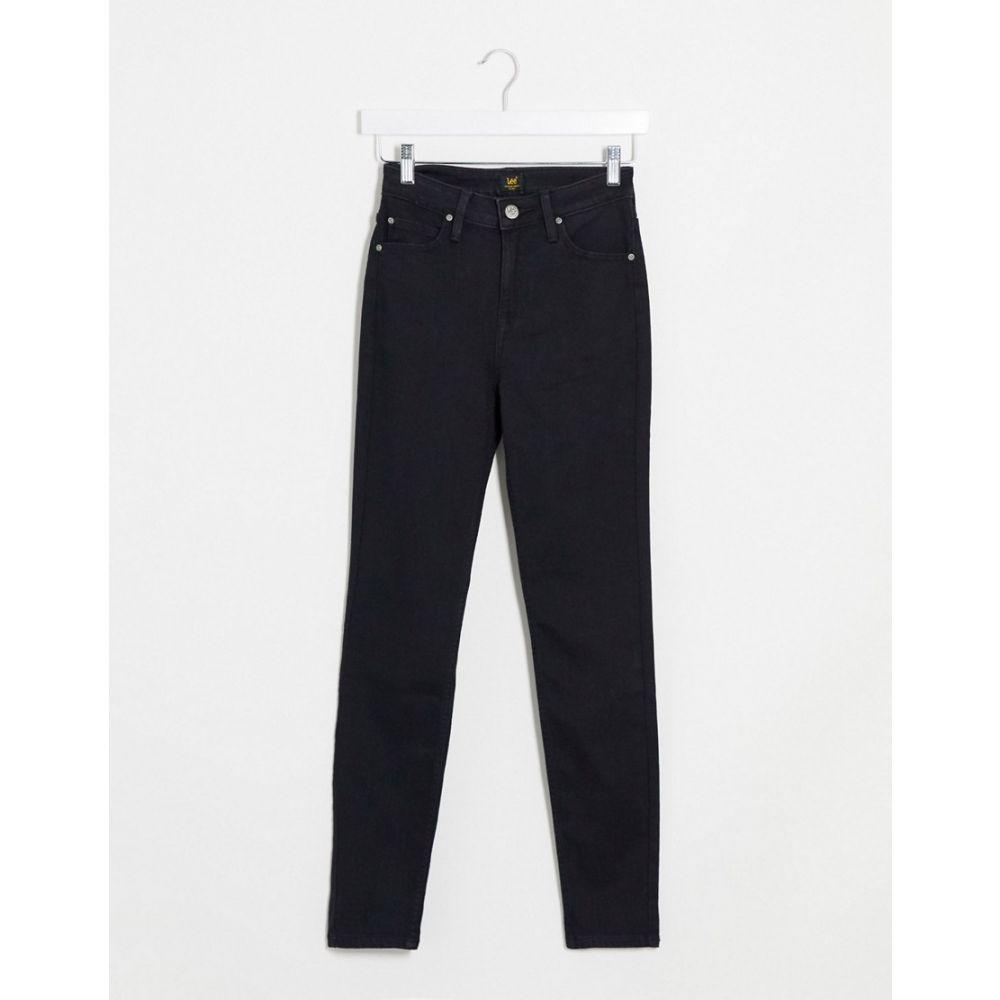 リー Lee Jeans レディース ジーンズ・デニム ボトムス・パンツ【Lee Scarlett High Rise Skiny Jeans In Black】Black rinse