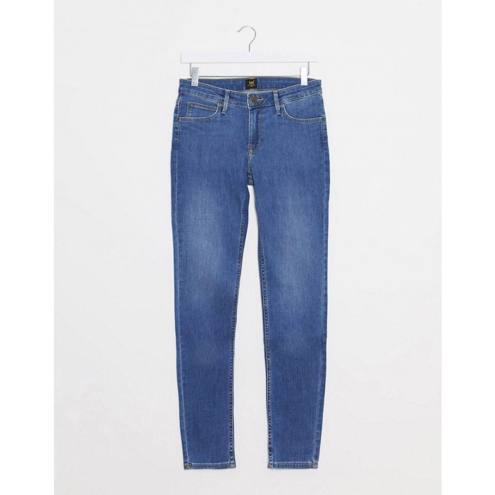 リー Lee Jeans レディース ジーンズ・デニム ボトムス・パンツ【Lee Scarlett Skinny Jeans In Mid Tiverton Blue】Tiverton