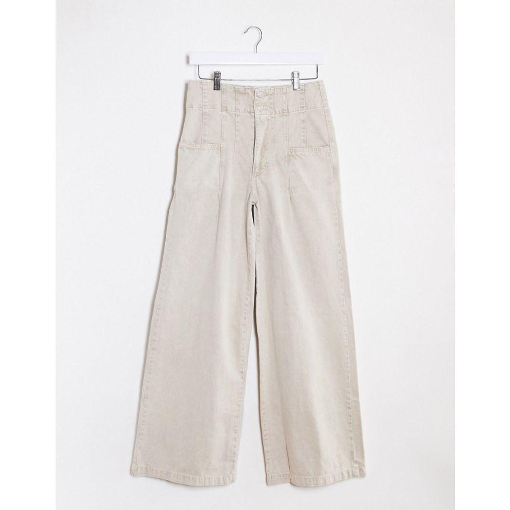 フリーピープル Free People レディース ジーンズ・デニム ワイドパンツ ボトムス・パンツ【Wide Leg Jeans In White】Neutral
