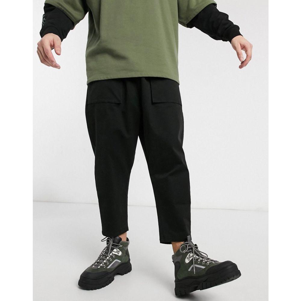 エイソス ASOS DESIGN メンズ チノパン ボトムス・パンツ【Asos Design Drop Crotch Chino Trousers In Black】Black