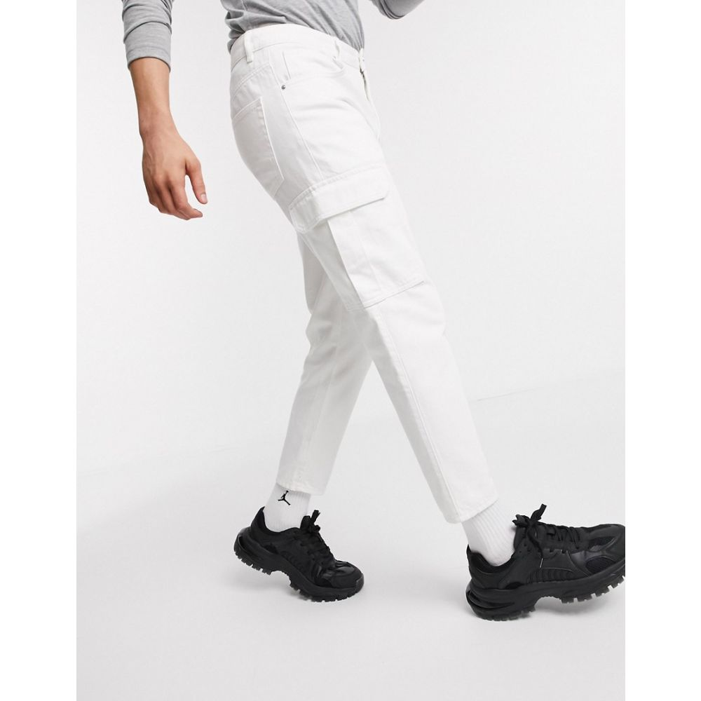 エイソス ASOS DESIGN メンズ ジーンズ・デニム ボトムス・パンツ【Asos Design Classic Rigid Jeans In White With Cargo Pockets】White
