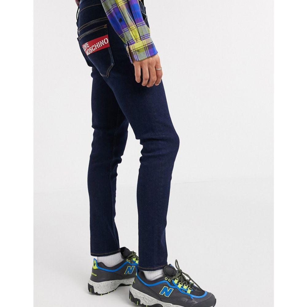 モスキーノ Love Moschino メンズ ジーンズ・デニム ボトムス・パンツ【Skinny Jeans With Back Logo】Blue