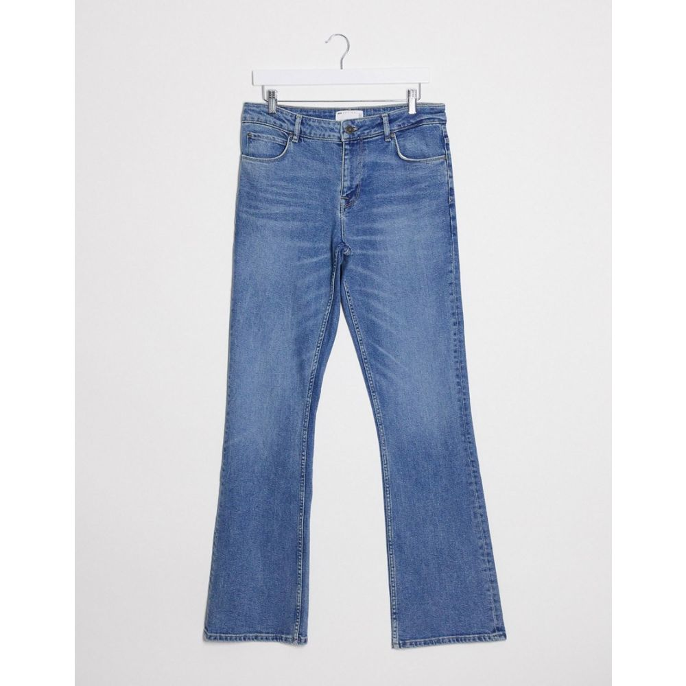 エイソス ASOS DESIGN メンズ ジーンズ・デニム ボトムス・パンツ【Asos Design Low Rise Skinny Flared Jean In Mid Wash Blue】Mid wash blue