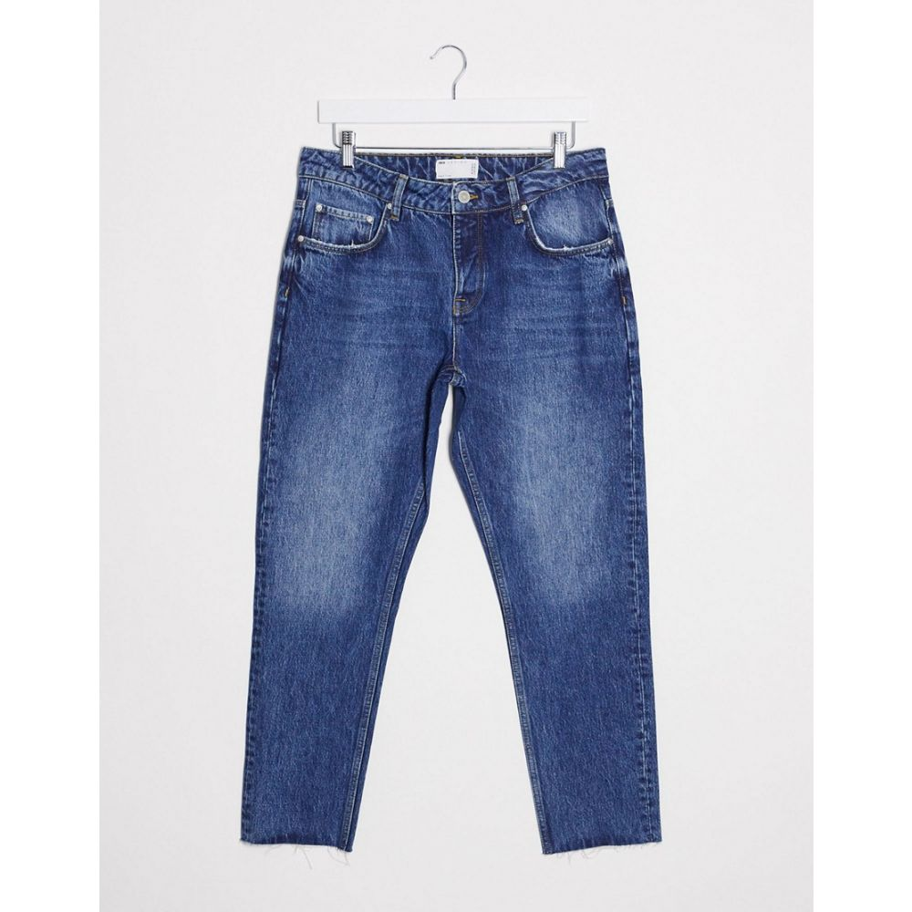 エイソス ASOS DESIGN メンズ ジーンズ・デニム ボトムス・パンツ【Asos Design Rigid Slim Jeans In Vintage Mid Wash Blue With Raw Hem】Mid wash vintage