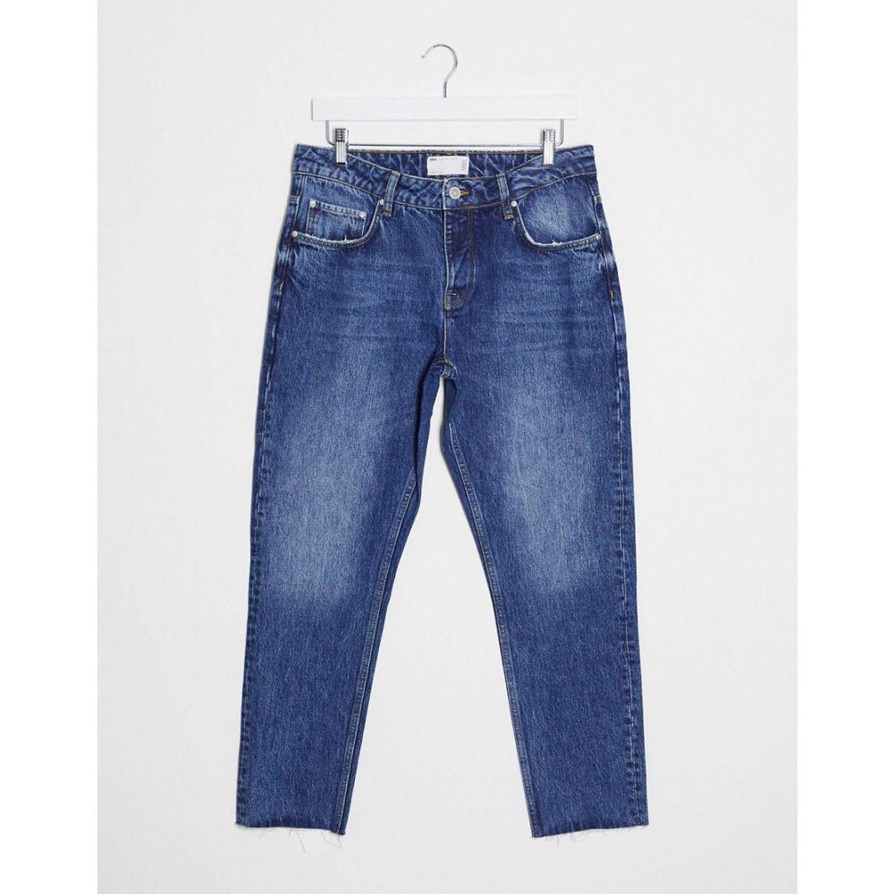 エイソス ASOS DESIGN メンズ ジーンズ・デニム ボトムス・パンツ【Asos Design Rigid Slim Jeans In Vintage Mid Wash Blue With Raw Hem】Mid wash vintage