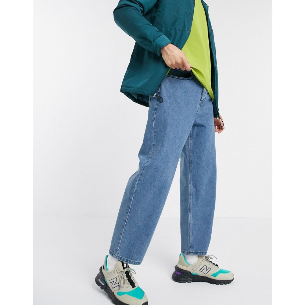 エイソス ASOS DESIGN メンズ ジーンズ・デニム ボトムス・パンツ【Asos Design Relaxed Tapered Jeans In Mid Wash Blue】Mid wash blue
