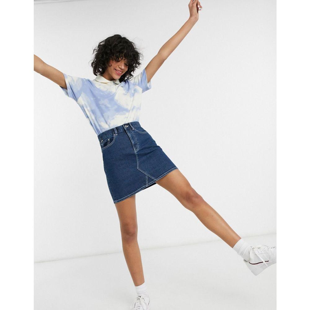 ラコステ Lacoste レディース ミニスカート デニム スカート【Denim Mini Skirt In Indigo】Vintage medium indi
