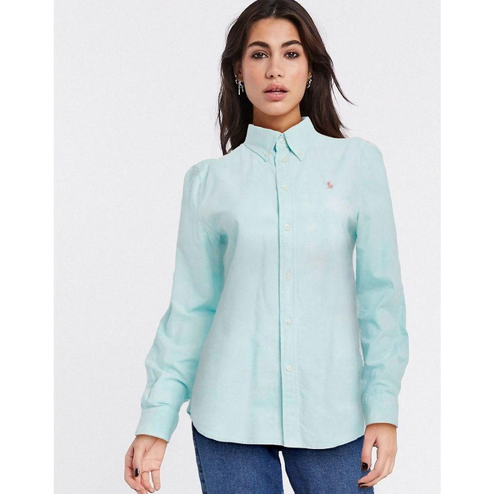 ラルフ ローレン Polo Ralph Lauren レディース ブラウス・シャツ トップス【Classic Logo Shirt In Green】Mint