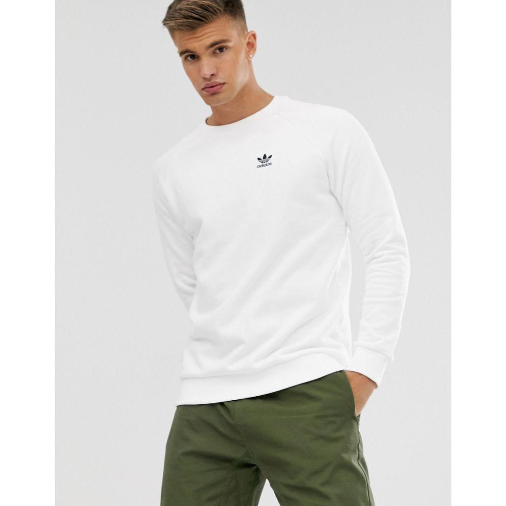 アディダス adidas Originals メンズ スウェット・トレーナー トップス【Adidas Originals Sweatshirt With Small Logo In White】White