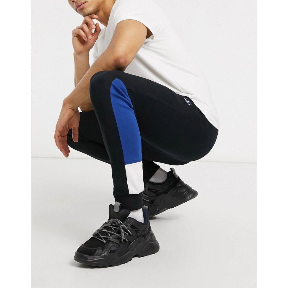 ジャック アンド ジョーンズ Jack & Jones メンズ ジョガーパンツ ボトムス・パンツ【Core Slim Fit Logo Cuffed Sweat Joggers In Black】Black