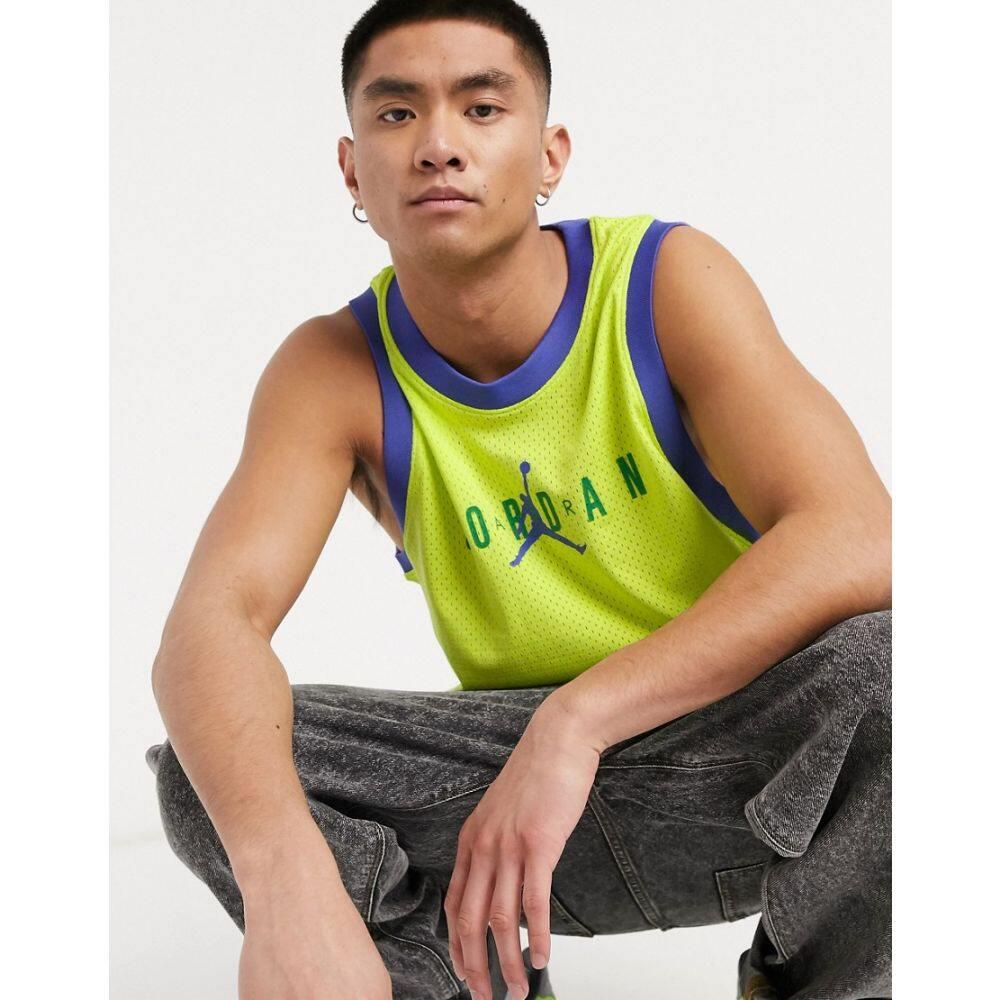 ナイキ ジョーダン Jordan メンズ タンクトップ トップス【Nike Jumpman Vest In Neon Green】Neon green