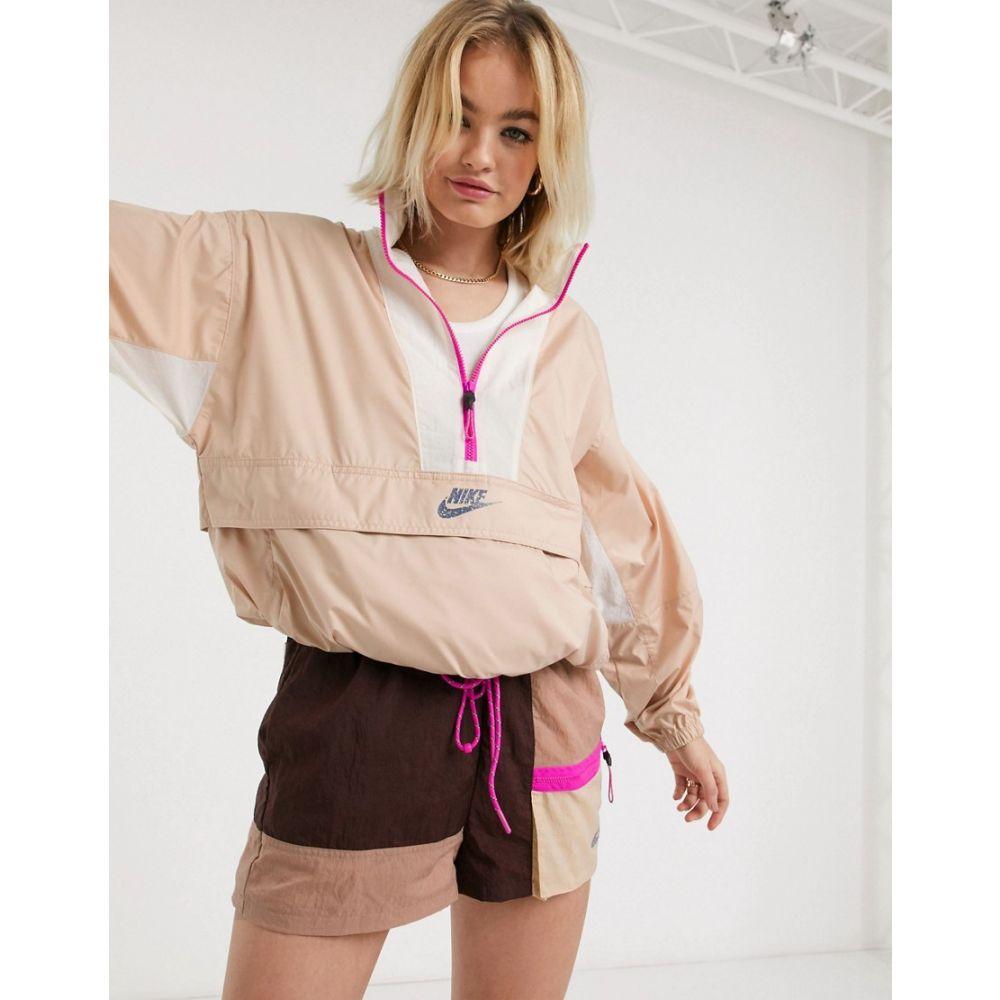 ナイキ Nike レディース ジャケット アウター【Packable Pullover Jacket In Beige Suit 3】Shimmer