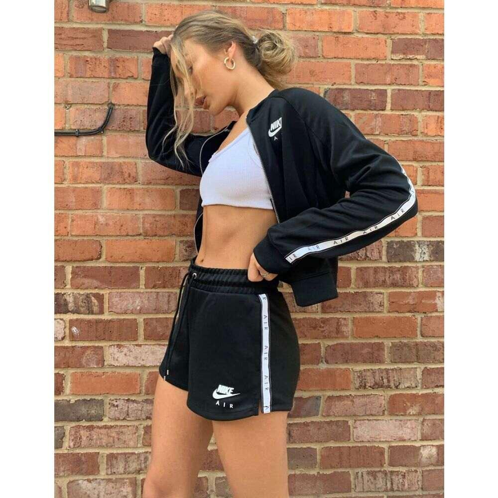 ナイキ Nike レディース ショートパンツ ボトムス・パンツ【Air Logo Tape Shorts In Black】Black