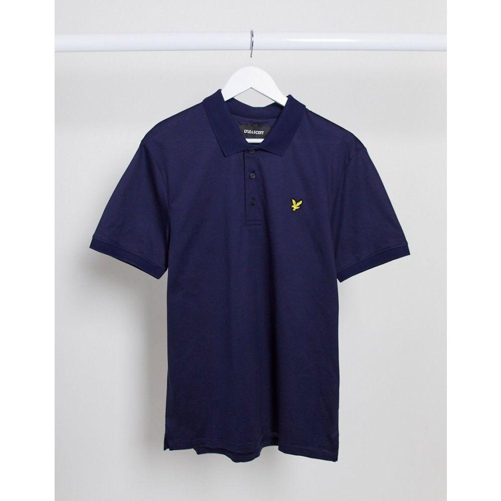ライル アンド スコット Lyle & Scott メンズ ポロシャツ トップス【Mercerised Jersey Polo Shirt】Navy