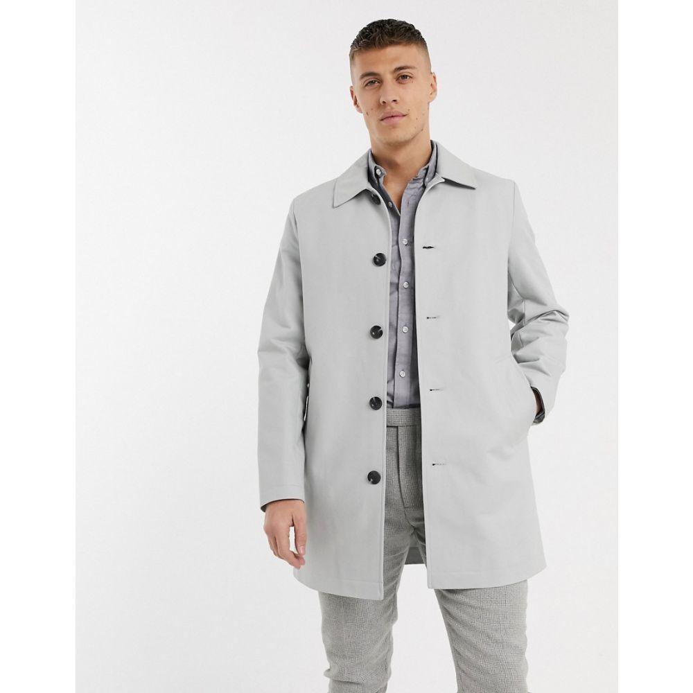 エイソス ASOS DESIGN メンズ トレンチコート アウター【Asos Design Single Breasted Trench Coat In Grey】Grey