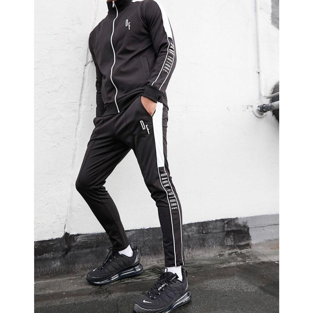エイソス ASOS DESIGN メンズ ジョガーパンツ ボトムス・パンツ【Asos Design X Dark Future Co-Ord Skinny Fit Joggers With Taping Detail】Black