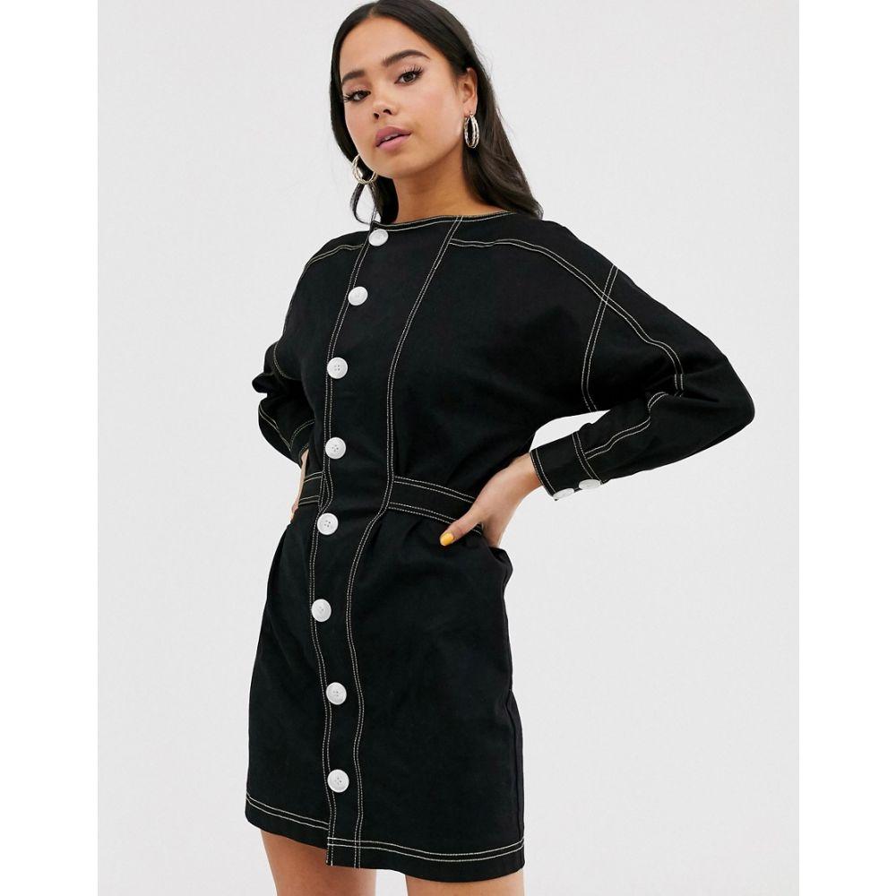 イーストオーダー The East Order レディース ワンピース ミニ丈 ワンピース・ドレス【Dorje Jacket Mini Dress】Black/lime