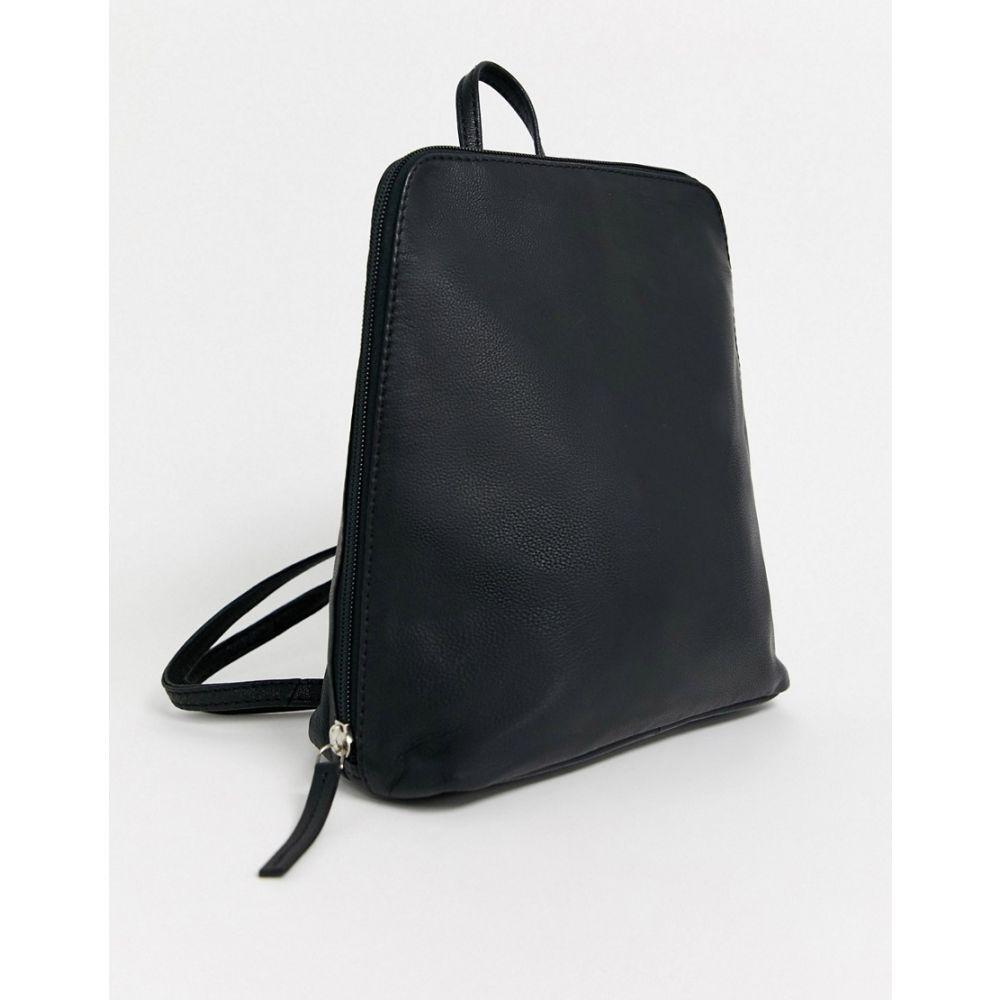 エイソス ASOS DESIGN レディース バックパック・リュック バッグ【Asos Design Clean Leather Backpack】Black