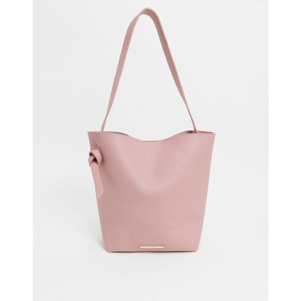 フレンチコネクション French Connection レディース トートバッグ バッグ【Faux Leather Slouchy Tote Bag】Pink