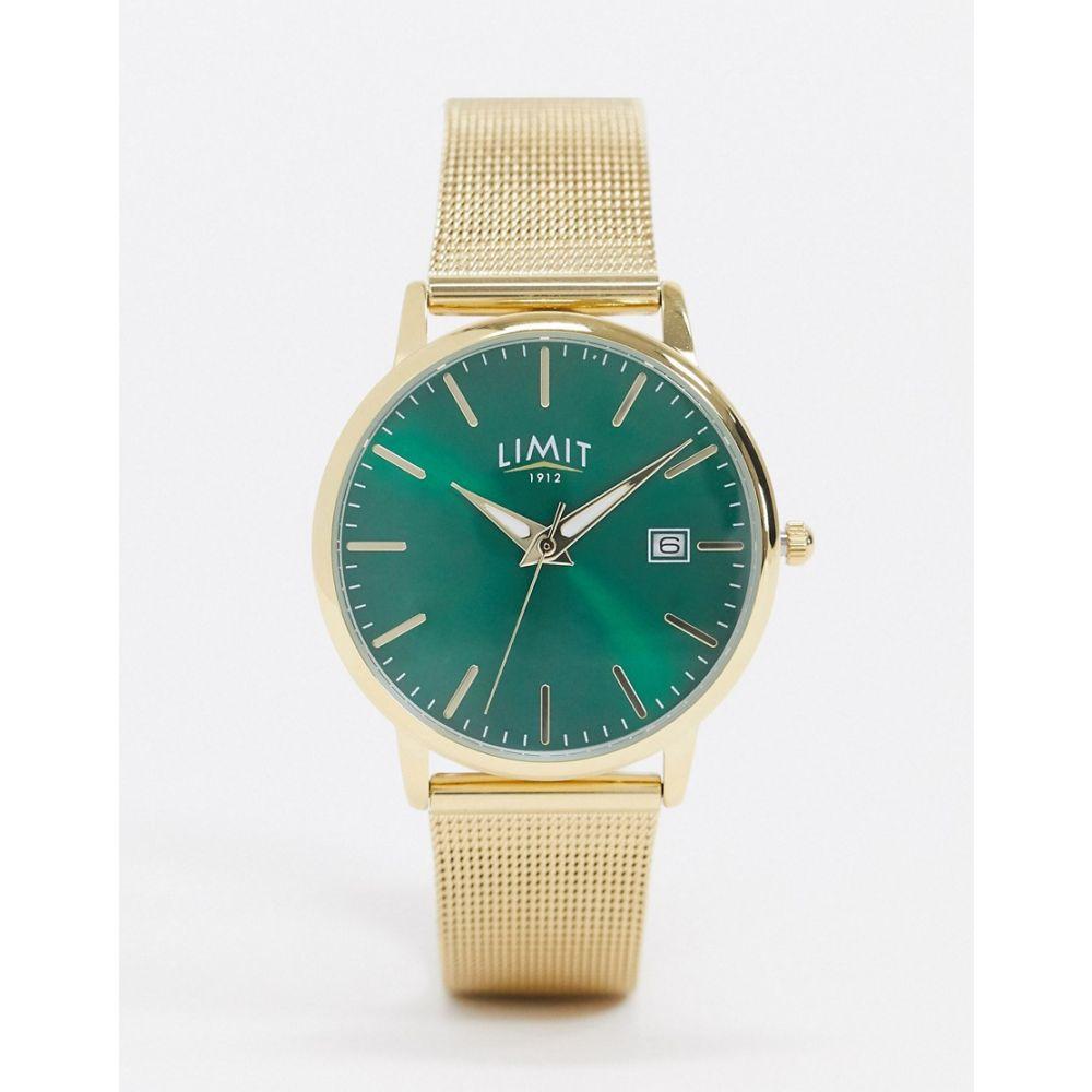リミット Limit レディース 腕時計 【Mesh Watch In Gold With Green Dial】Gold