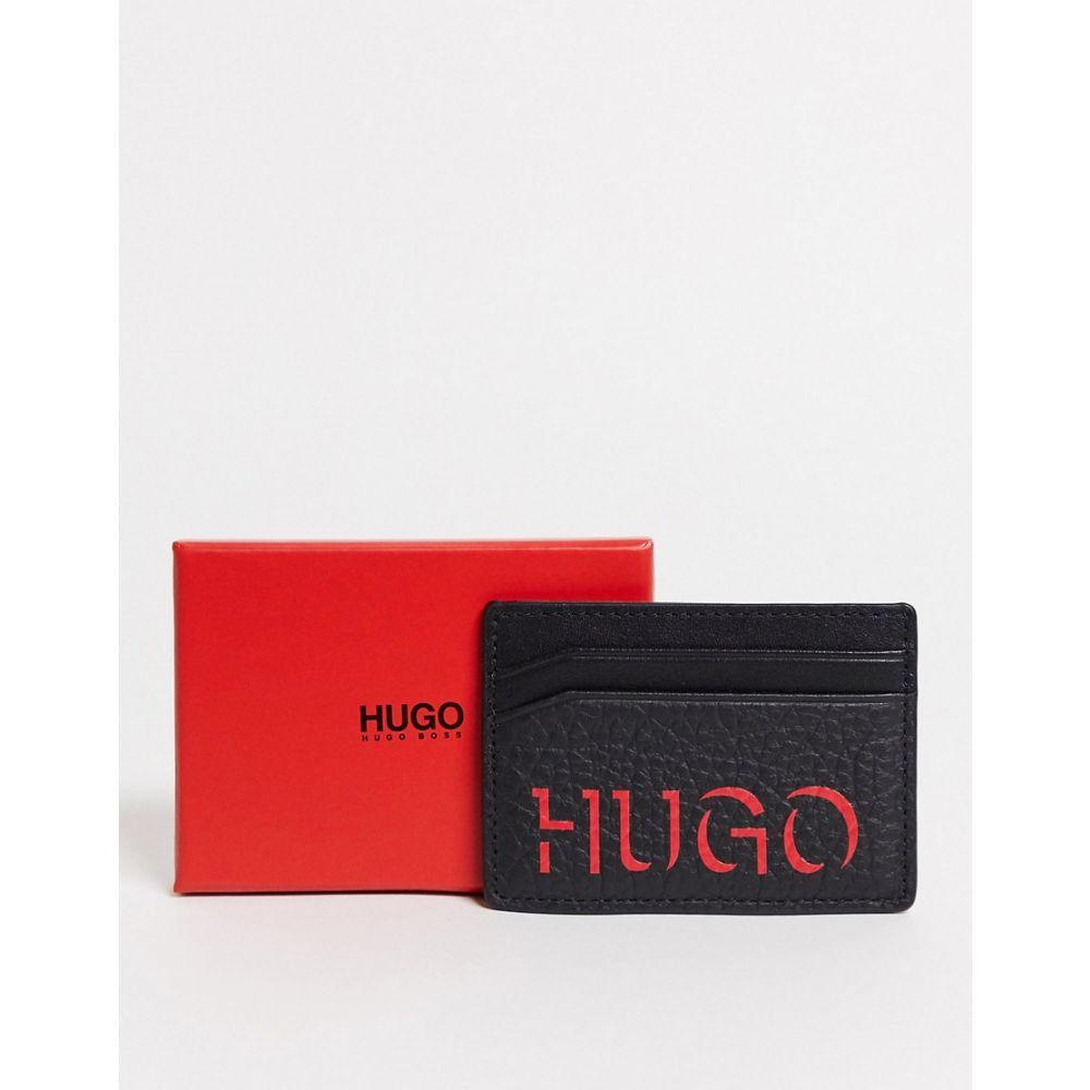 ヒューゴ ボス BOSS メンズ カードケース・名刺入れ カードホルダー【Hugo Victorian Leather Card Holder】Black