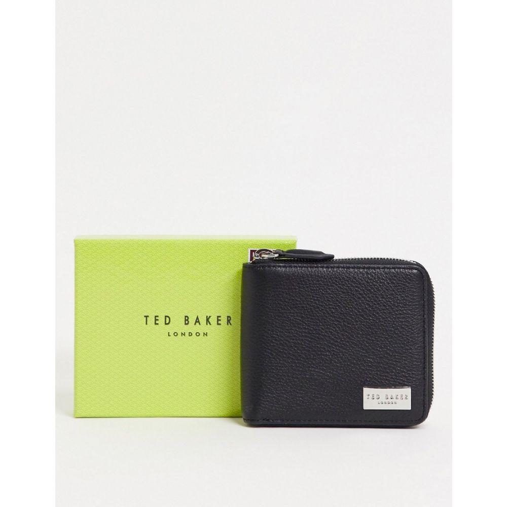 テッドベーカー Ted Baker メンズ 財布 【Baits Zip Around Leather Coin Wallet In Black】Black