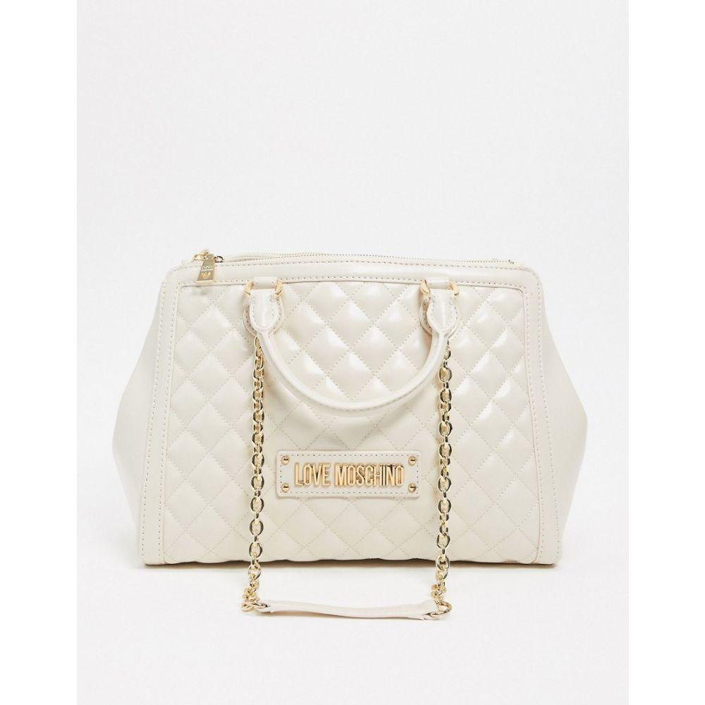 モスキーノ Love Moschino レディース ショルダーバッグ バッグ【Quilted Shoulder Bag In Ivory】Ivory