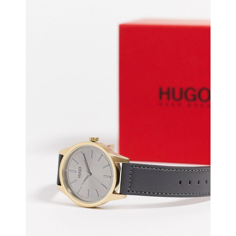 ヒューゴ ボス BOSS ユニセックス 腕時計 【Hugo Boss Dare Watch In Grey Leather】Grey