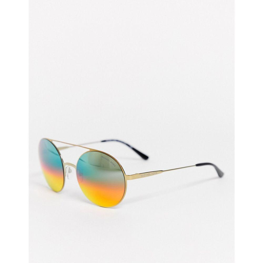 マイケル コース Michael Kors レディース メガネ・サングラス ラウンド【0Mk1027 Round Lens Sunglasses】Gold