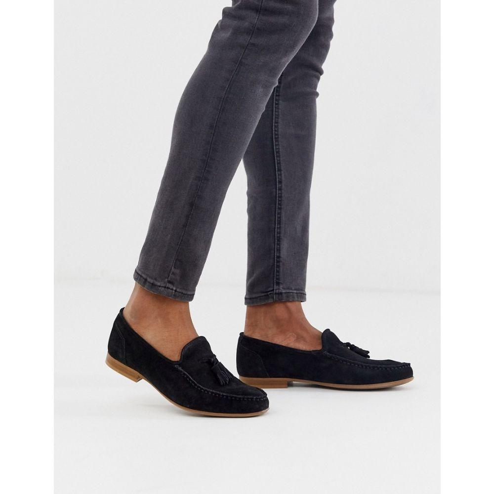 エイソス ASOS DESIGN メンズ ローファー シューズ・靴【Asos Design Loafers In Black Suede】Black