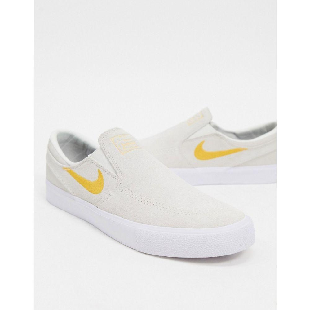 ナイキ Nike SB メンズ スリッポン・フラット シューズ・靴【Nike Sb Zoom Janoski Slip-On Trainers In Off White】Off white