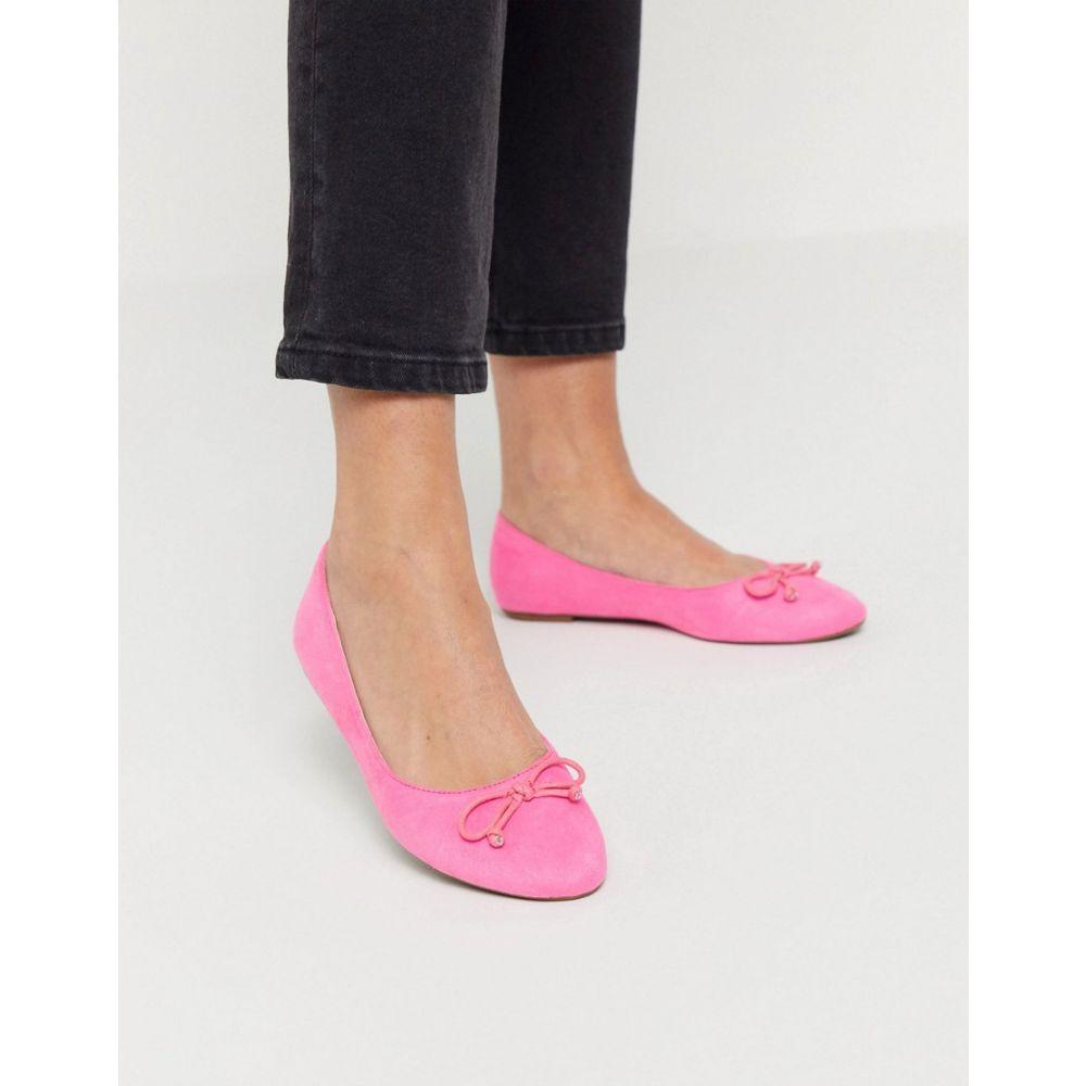 トリュフコレクション Truffle Collection レディース スリッポン・フラット シューズ・靴【Easy Ballet Flats In Pastel Pink】Pastel pink