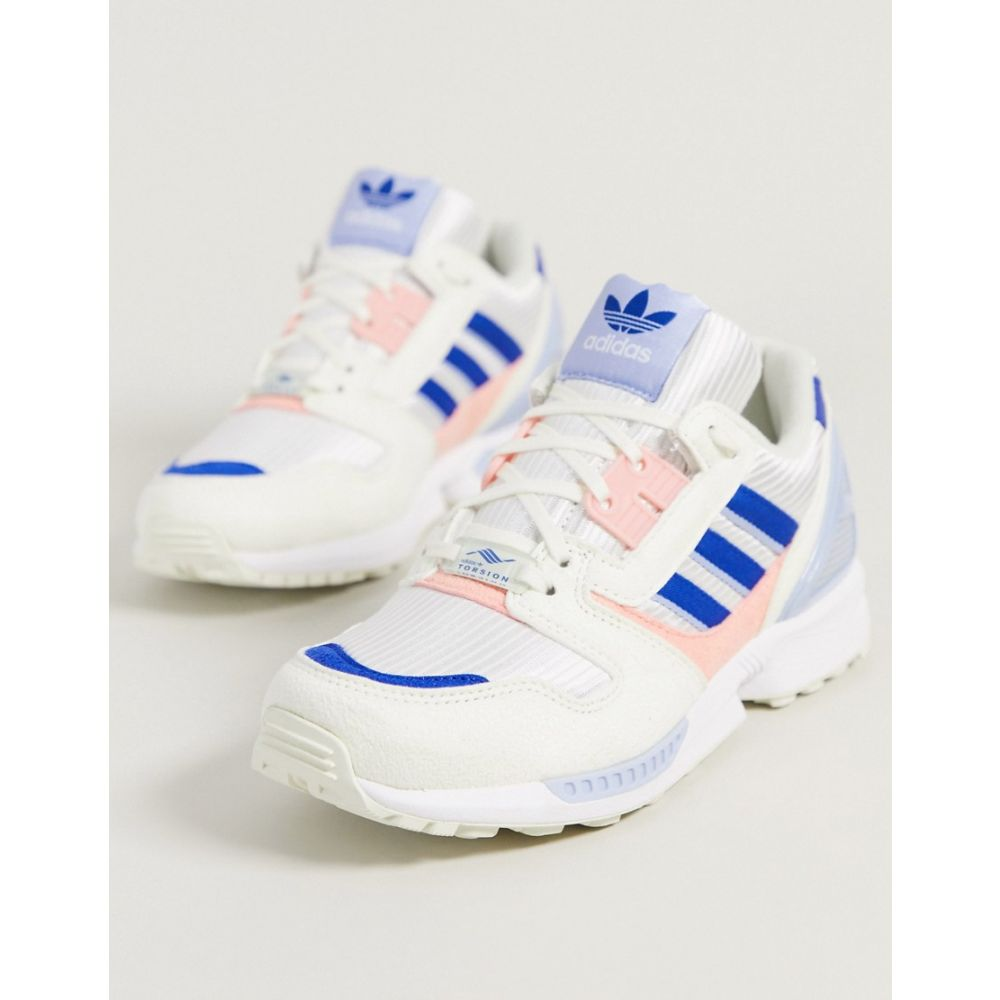 アディダス adidas Originals レディース スニーカー シューズ・靴【Adidas Originals Zx 8000 Trainers In Pink And Blue】White/blue/pink