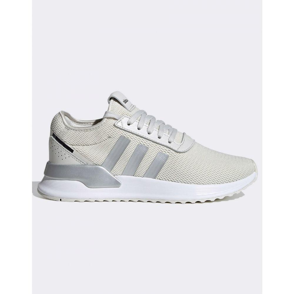 アディダス adidas Originals レディース スニーカー シューズ・靴【Adidas Originals U Path Run Trainers In White And Silver】White/silver