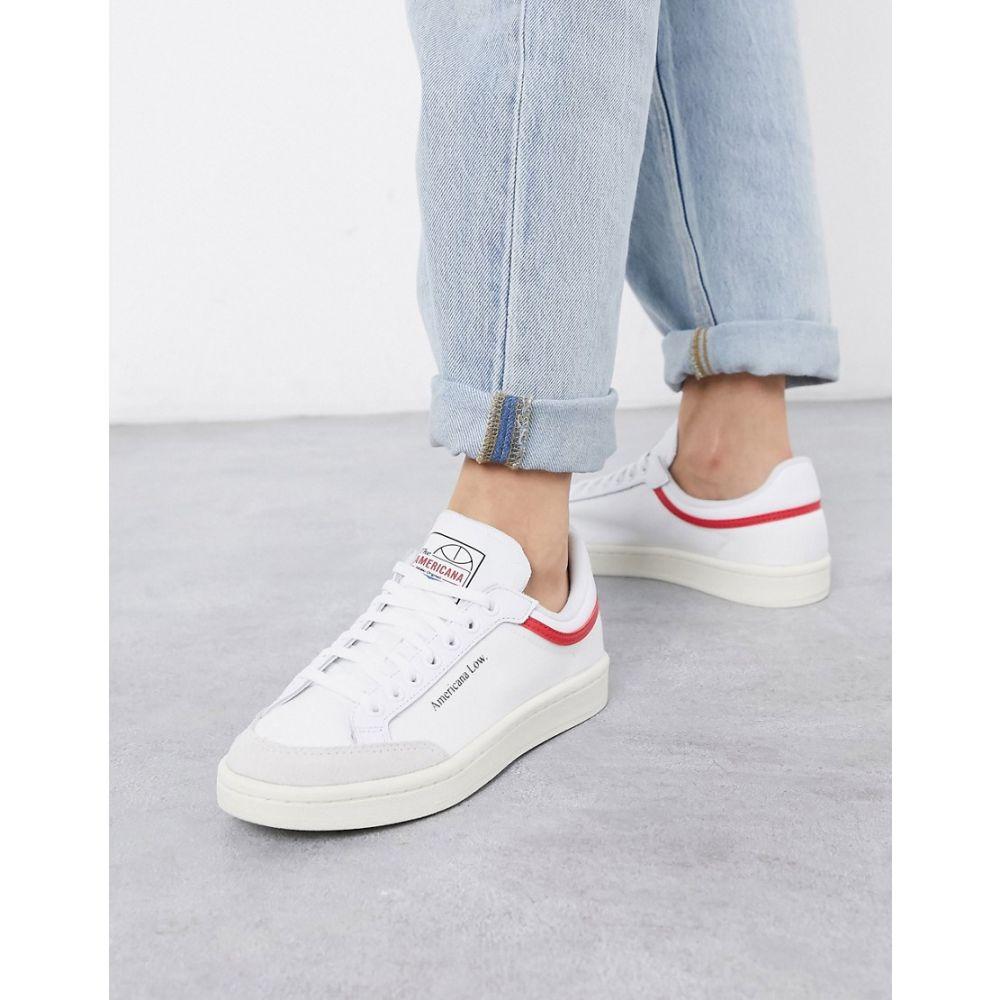 アディダス adidas Originals レディース スニーカー シューズ・靴【Adidas Originals Americana Low Trainers In White】White